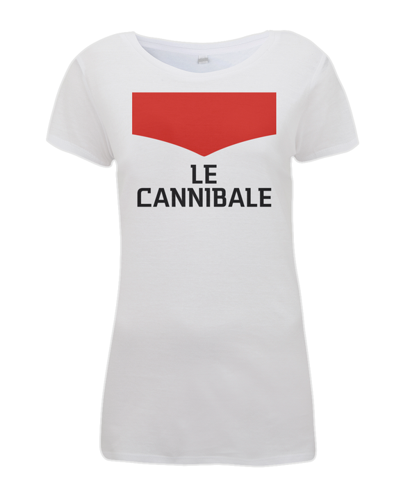 le cannibale women's cycling t-shirt white
