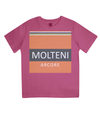 molteni cycling t-shirt for kids - pink