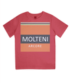 molteni cycling t-shirt for kids - red