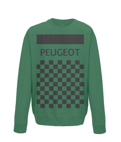 peugeot cycling sweatshirt green