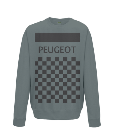peugeot cycling sweatshirt charcoal
