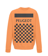 peugeot cycling sweatshirt orange