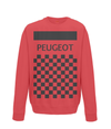 peugeot cycling sweatshirt red