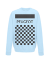 peugeot cycling sweatshirt light blue