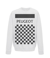 peugeot cycling sweatshirt white