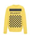 peugeot cycling sweatshirt yellow
