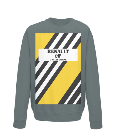 renault cycling sweatshirt charcoal