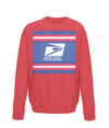 us postal service kids cycling jumper red