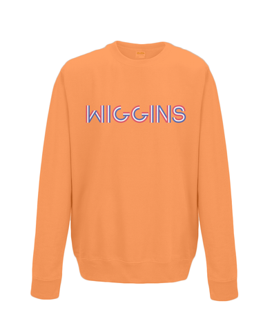 bradley wiggins kids cycling sweatshirt orange