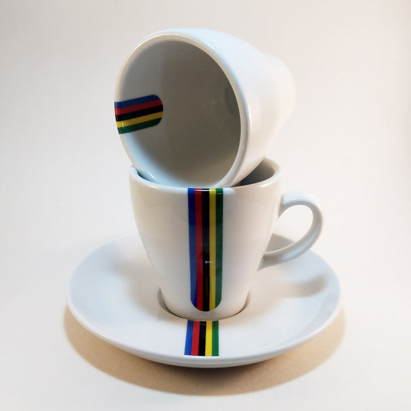 cycling world champion cappuccino set