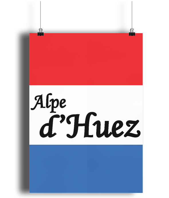 Alpe d'Huez French Flag cycling poster