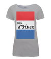 alpe d'huez womens t-shirt grey