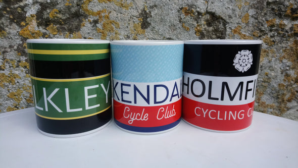 Personalised Cycling Jersey Mug