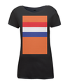 dutch flag womens cycling t-shirt black
