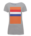 dutch flag womens cycling t-shirt grey