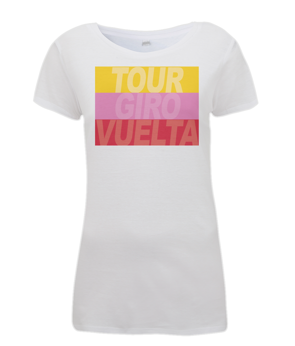 grand tours stripes womens cycling t-shirt