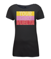 grand tours stripes womens cycling t-shirt black