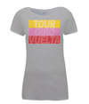 grand tours stripes womens cycling t-shirt grey
