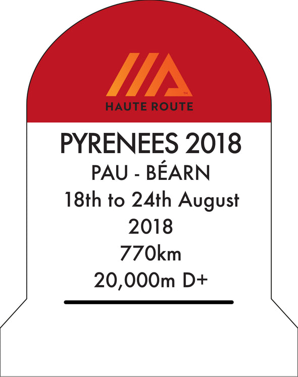 Haute Route Pyrenees Perspex KM Marker