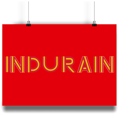 Miguel Indurain poster red