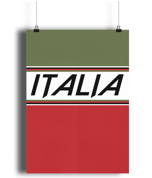 italia cycling poster