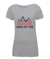 king of the mountains womens cycling t-shirt grey