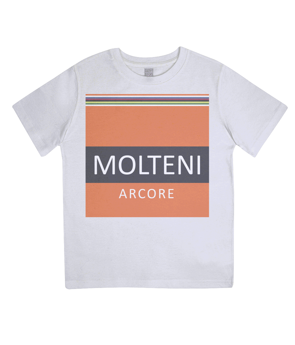 molteni kids cycling t-shirt - white
