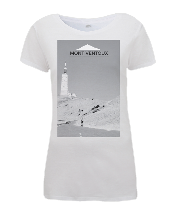 mont ventoux scenery womens cycling t-shirt