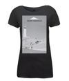 mont ventoux scenery womens cycling t-shirt black