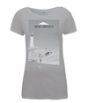 mont ventoux scenery womens cycling t-shirt grey