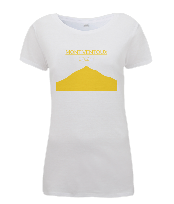 mont ventoux womens cycling t-shirt yellow