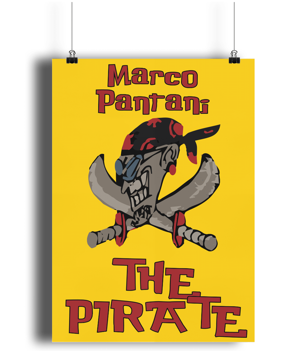 Pantani The Pirate cycling poster