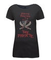 pantani the pirate womens t-shirt black