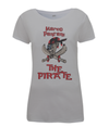 pantani the pirate womens t-shirt  grey