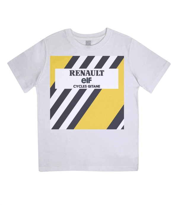 renault kids cycling t-shirt white