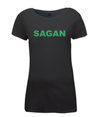 sagan green jersey womens t-shirt black