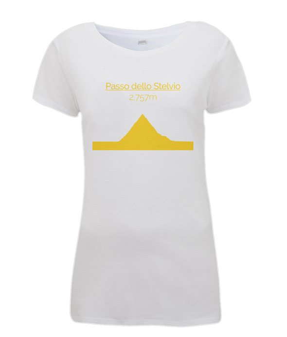 Passo Dello Stelvio womens t-shirt yellow