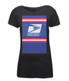 US Postal Service womens t-shirt black