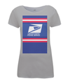 US Postal Service womens t-shirt grey