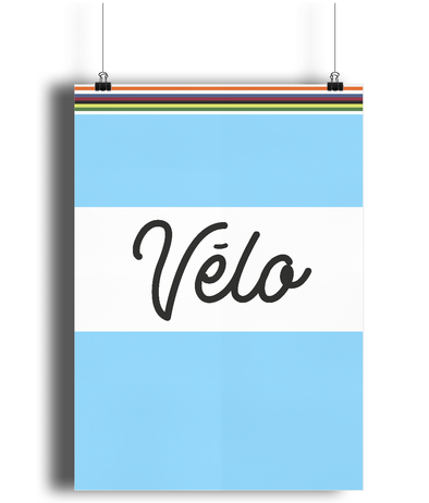 Velo cycling poster