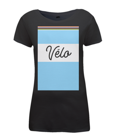 velo womens cycling t-shirt black