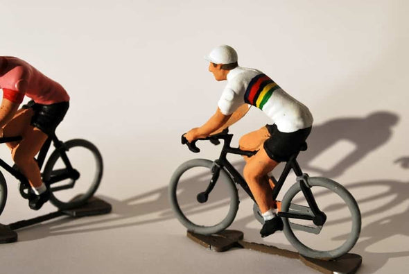 mini cyclist figurine