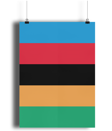 World Champion Stripes cycling poster