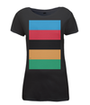 World Champion Stripes womens t-shirt black
