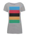 World Champion Stripes womens t-shirt grey