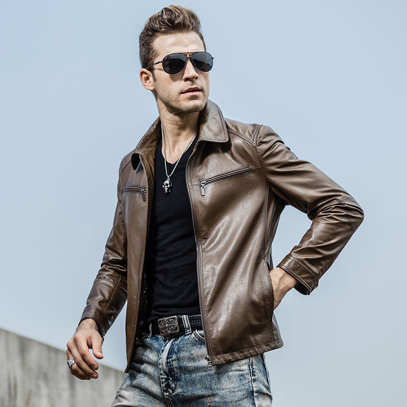 mens classic leather motorcycle jacket (2)