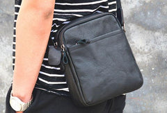 Cool Leather Mens Small Messenger Bag Cool Crossbody Bags for men