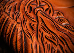 Handmade Leather Indian Chief Tooled Mens billfold Wallet Cool Leather Wallet Slim Wallet for Men