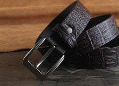 Genuine Leather Punk Rock Biker Trucker Mens Belt Men Black Coffee Belt for Men