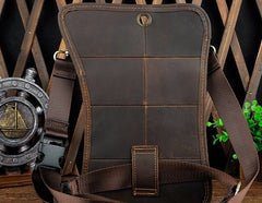 Cool Leather Utility Drop Leg Bag Belt Pouch Mens Waist Bag Shoulder Bag for Men